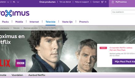 En Belgique, Proximus offre 3 mois d'abonnement gratuit à Netflix