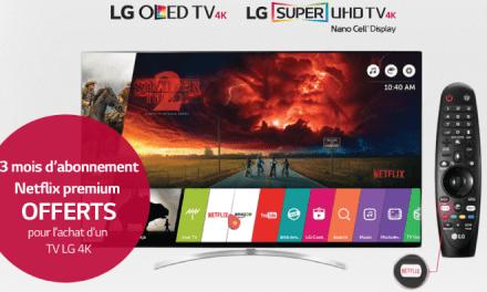 Achetez une TV 4K chez LG et bénéficiez de 3 mois d'abonnement gratuit à Netflix