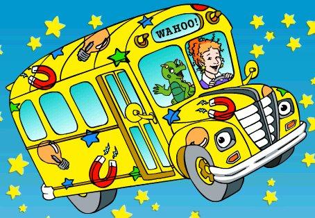 C Est Mercredi Montez à Bord Du Bus Scolaire Magique