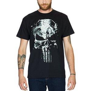 T-shirt-Punisher-Skull-tte-de-mort-Elbenwald-coton-noir-0