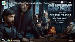 Chehre - Indian Hindi Upcoming Movie - Amitabh Bachan,Imran Hashmi - Netflix Plans