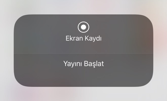 iOS Ekran Görüntü Kaydı Canlı Yayın