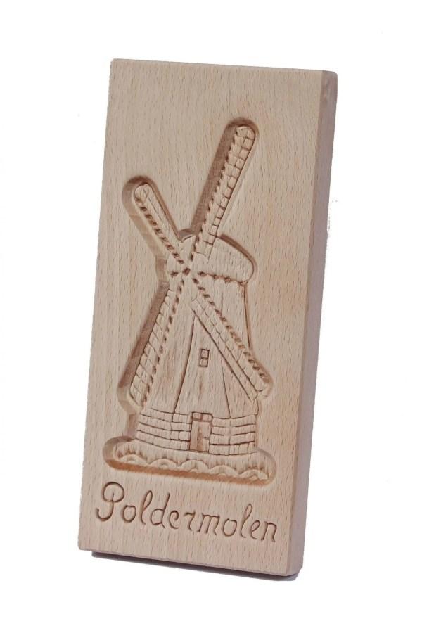 Cookie Mould, Poldermolen, 24 Cm / 9.5 Inch - Woodenshoefactory Marken