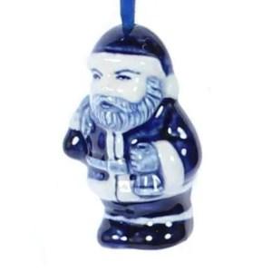 Christmas Ornament, Delft Blue, Santa Claus - Woodenshoefactory Marken