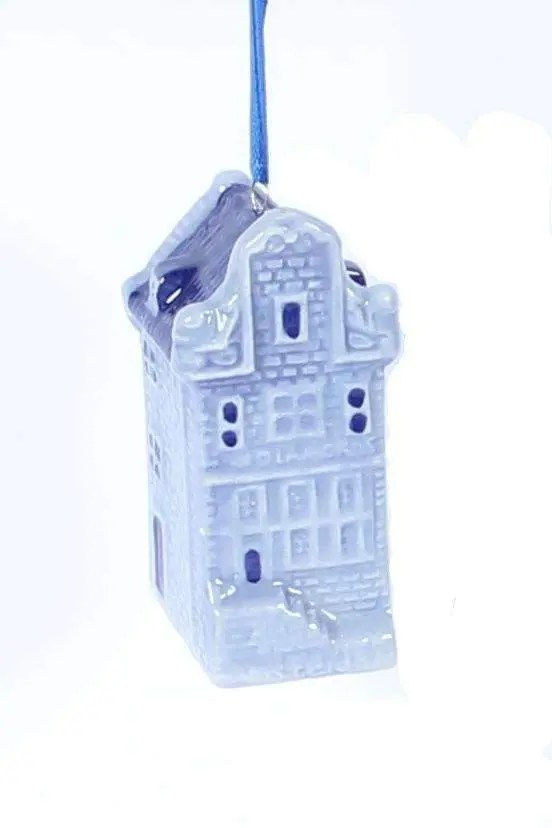 Christmas Ornament, Delft Blue, Canal House - Woodenshoefactory Marken