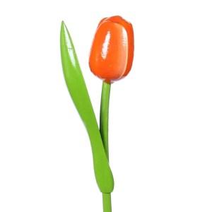 orange wooden tulip