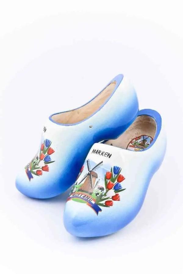Wooden Shoes Marken Blue White - Woodenshoefactory Marken