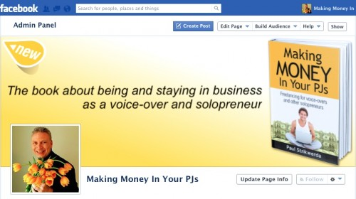 """The Facebook page of """"Making Money In Your PJs"""" by Paul Strikwerda."""