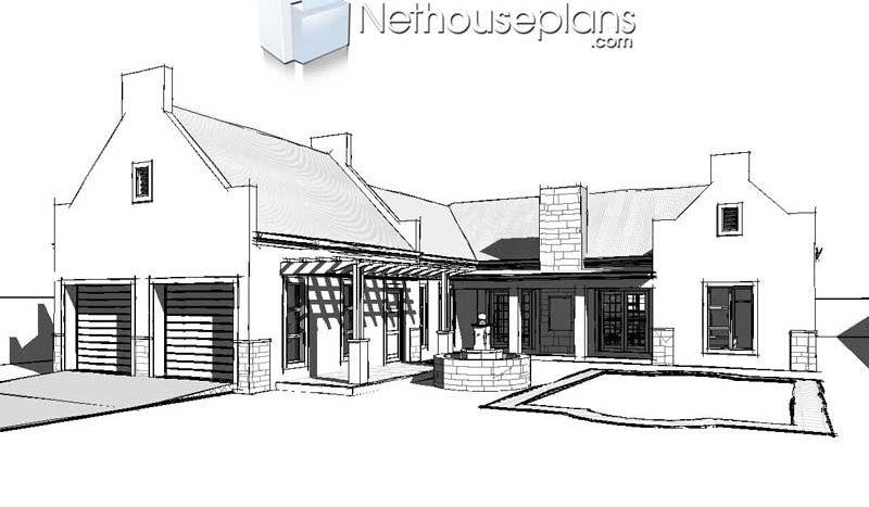 4 Bedroom Single Storey House Plan Sa Home Design Nethouseplansnethouseplans