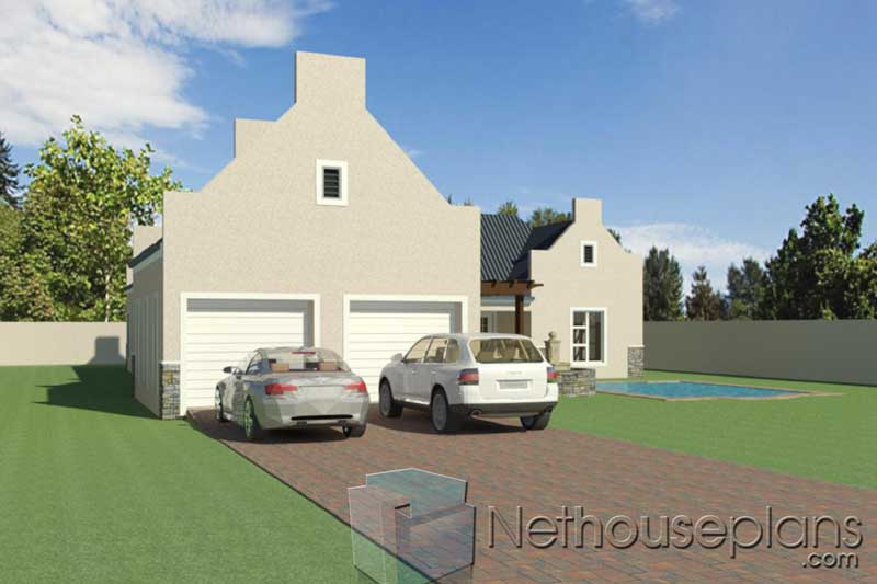 4-Bedroom-House-Plans-South-Africa_TR248_Garage-View-From ...