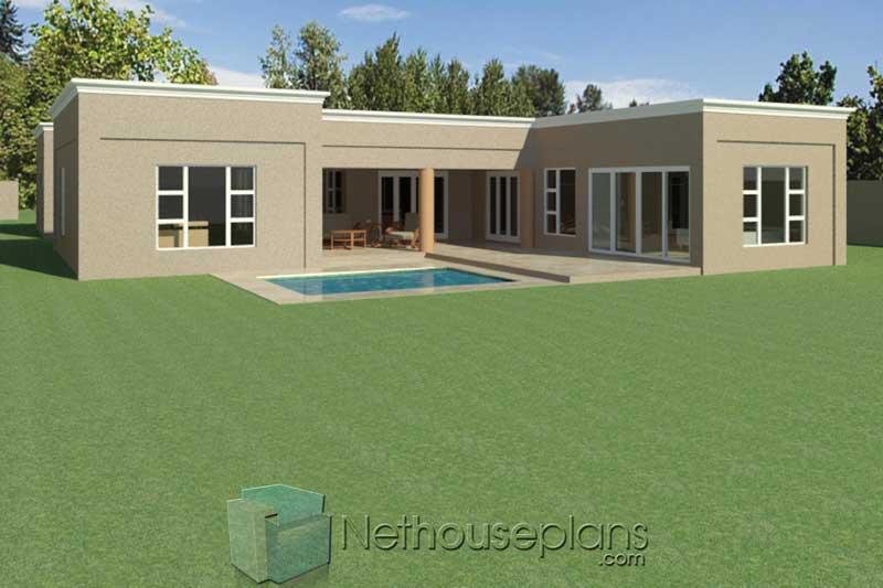 Modern Flat Roof House Plans 304sqm House Designs Nethouseplansnethouseplans