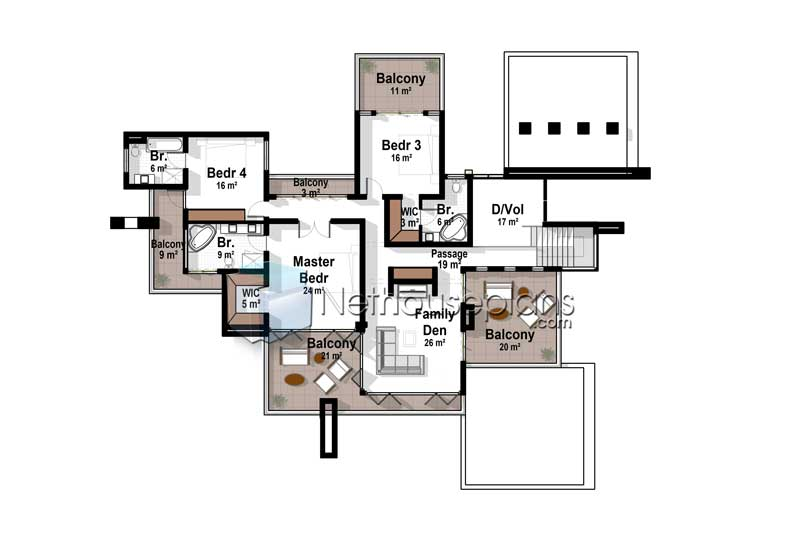 4 Bedroom Modern House Plans | Modern House Designs ...