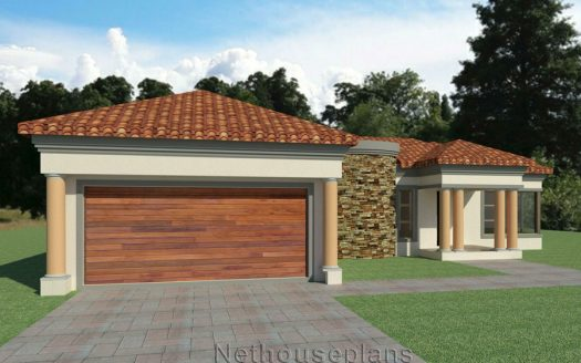 3 Bedroom house plan, Single storey house plans South Africa, Tuscan house design 3 bedroom single storey home, building plan, three bedroom architecture design, Nethouseplans, South Africa