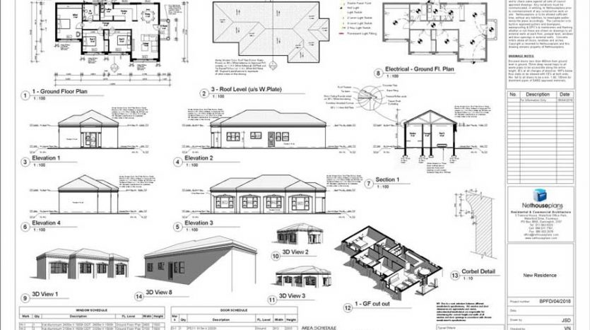 South African House Design, Single storey house plan, one storey house design with photos, house plans with a double garage, blueprints, architect's drawings, Nethouseplans