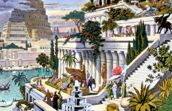 hanging gardens of babylon, ancient structures, nethouseplans