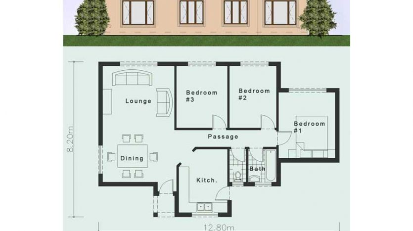 One Story House Plans 3 Bedroom Floor Plans Nethouseplans