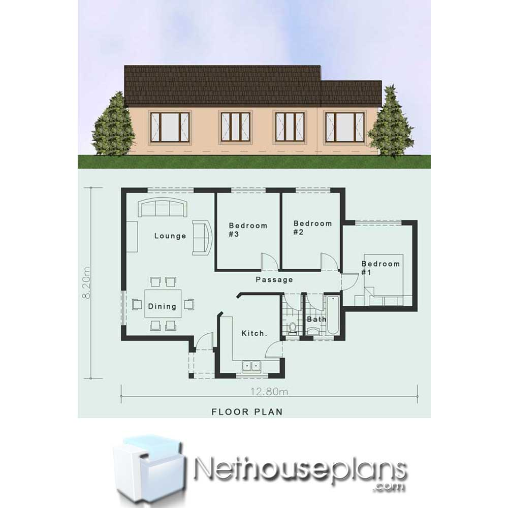 Simple House Plans  Clutter-Free 3 Bedroom House Plans ...