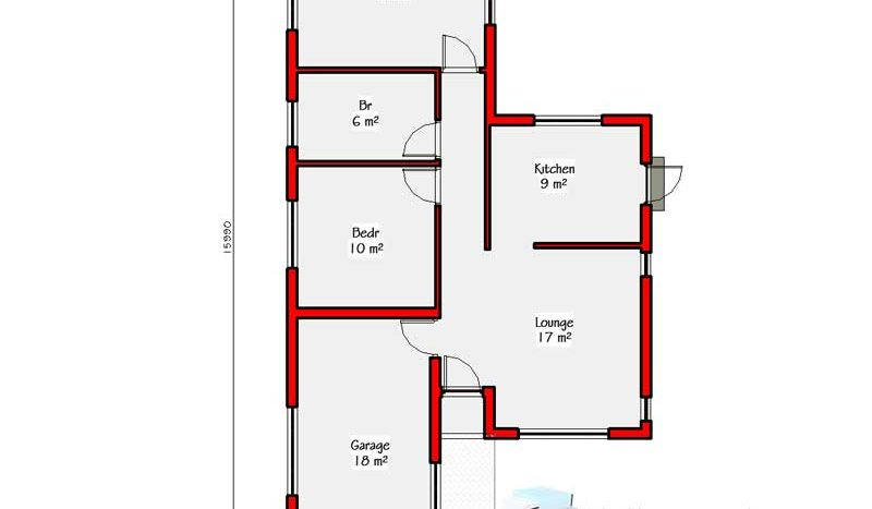 2 Bedroomed House Designs Home Design Ideas
