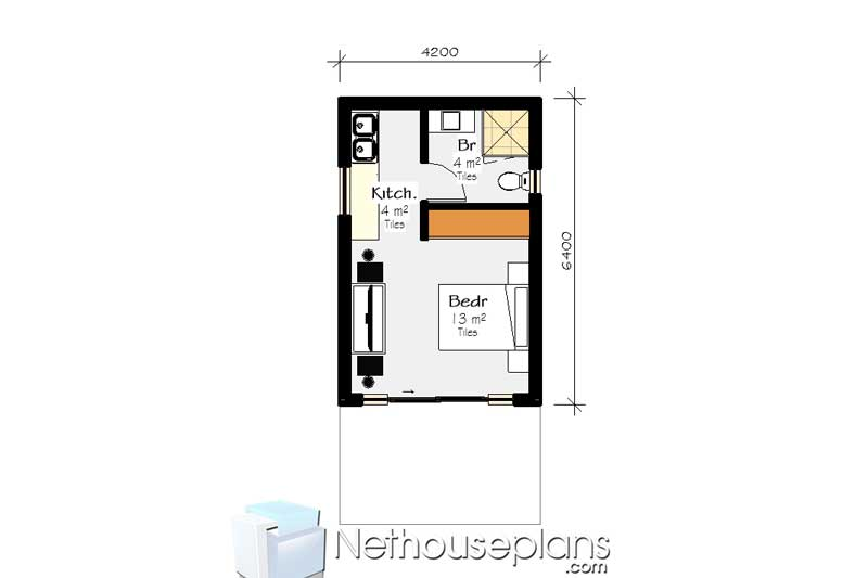 1 bedroom house plans south africa  cottage house designs