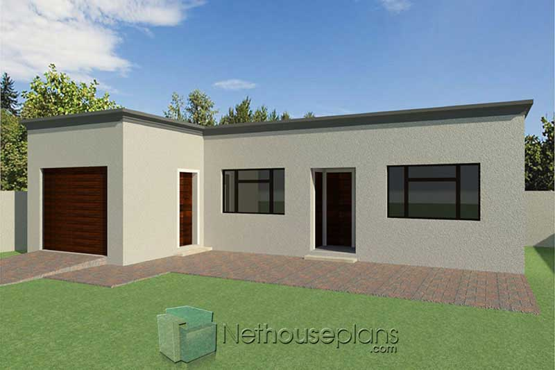 2 room house plans modern flat roof house plans and garage ...