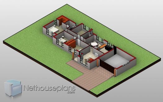 3 bedroom house design Tuscan house plan modern House designs Nethouseplans