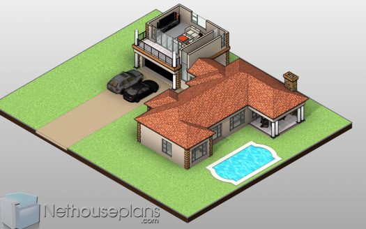 upper floor floor plan 4 Bedroom house designs 4 bedroom house plans South Africa pdf Nethouseplans