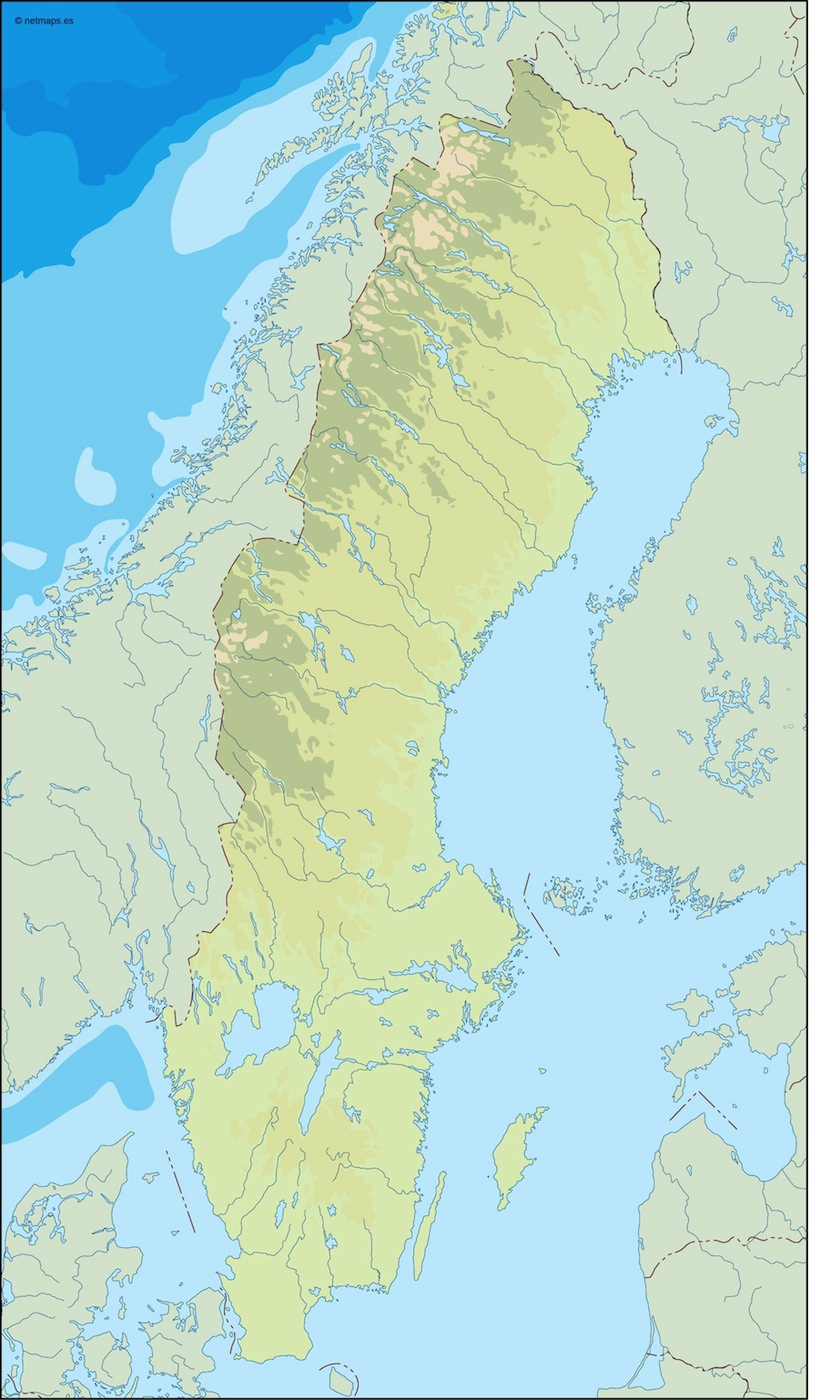 Country Vector Maps Europe  Vector Europe Maps  Illustrator maps of     sweden illustrator map
