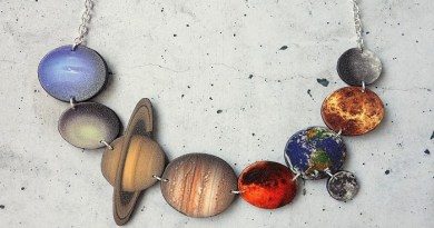 Carved wood solar system necklace-Netmarkers