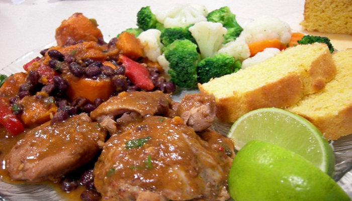 Chicken with Sweet Potatoes and Black Beans-Netmarkers