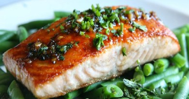 Cilantro chili lime glazed salmon and green beans-Netmarkers