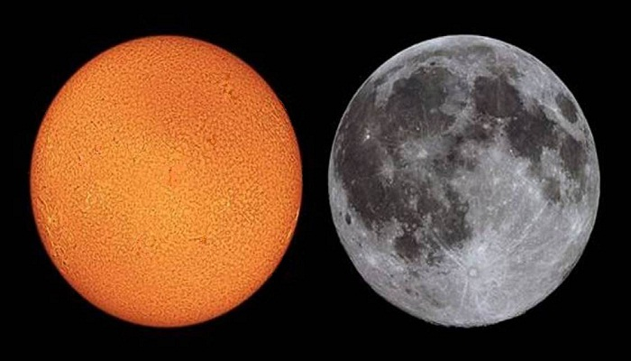 sun moon appears to be of same size-Netmarkers