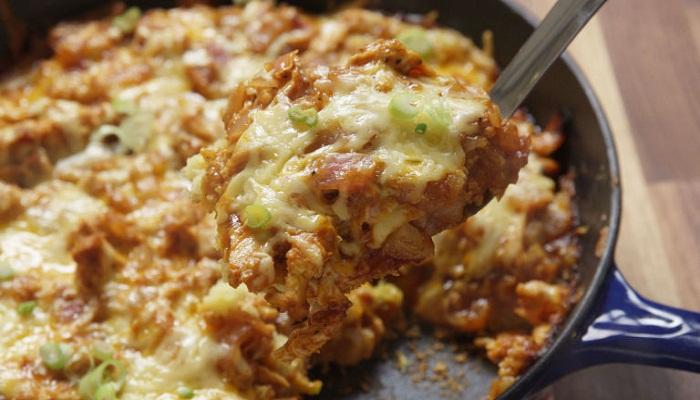 BBQ Chicken Cornbread Skillet-Netmarkers
