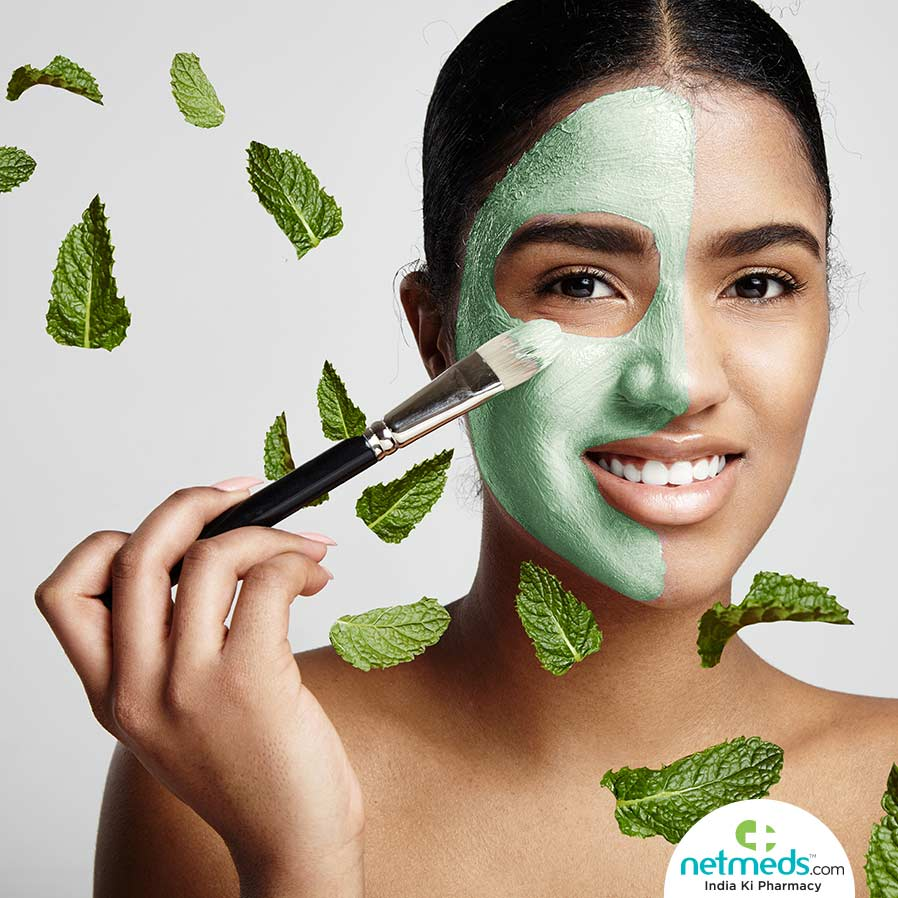 Benefits of Mint as Hydrates and tones the skin