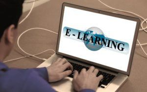 e-learning using a laptop