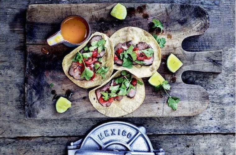 Tacos med kronvildtfilet og Salsa pico de gallo