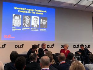 Panel at DLD Conference in Brussels, 5 September 2018 (Photo: Per Strömbäck)