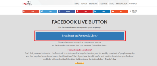 how to broadcast live video on facebook from pc