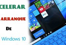 acelerar inicio windows 10