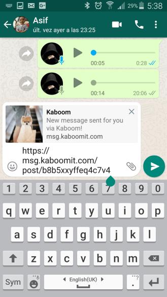 whatsapp kaboom