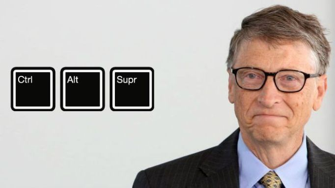 Bill Gates Ctrl + Alt + Supr
