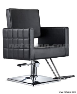 Black Faux Leather Salon Chair