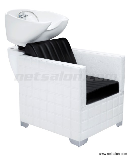 Salon Backwash Unit Sink and Chair White