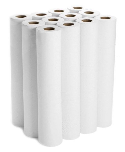 White Hygiene Couch Rolls 2PLY 40m 20″