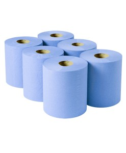Blue-Centrefeed-Roll- 2 Ply-150m (Case of 6)