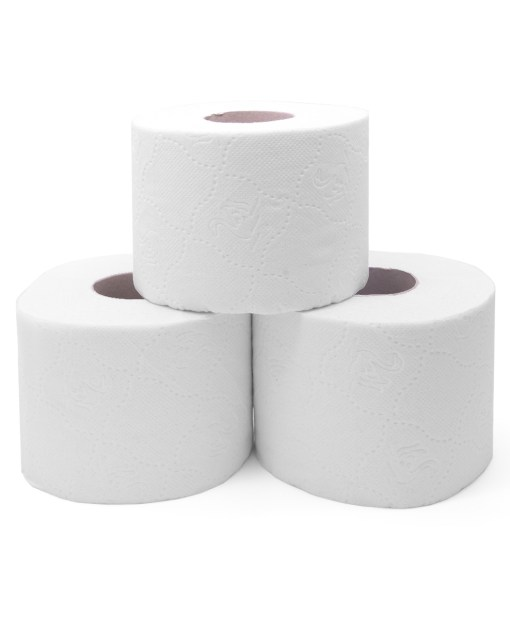 multipack 2 ply white embossed toilet roll 36 rolls-320 sheets