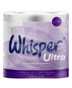 Whispa ultra 3ply toilet rolls multipack 40rolls