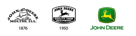 The John Deere logo has stayed true to it's original form for over 133 years