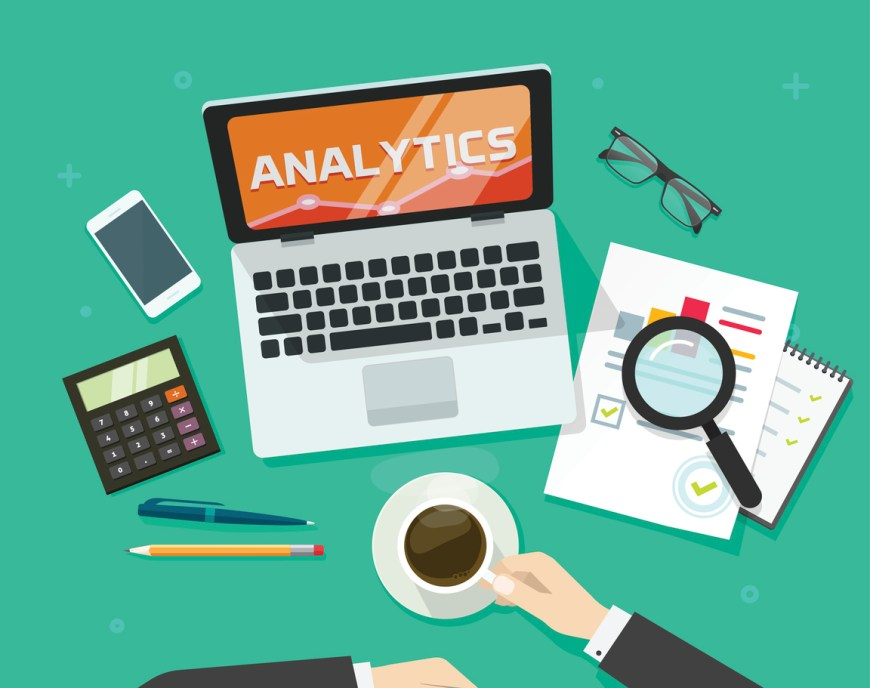 Financial auditing report concept, finance data research verification, accounting review