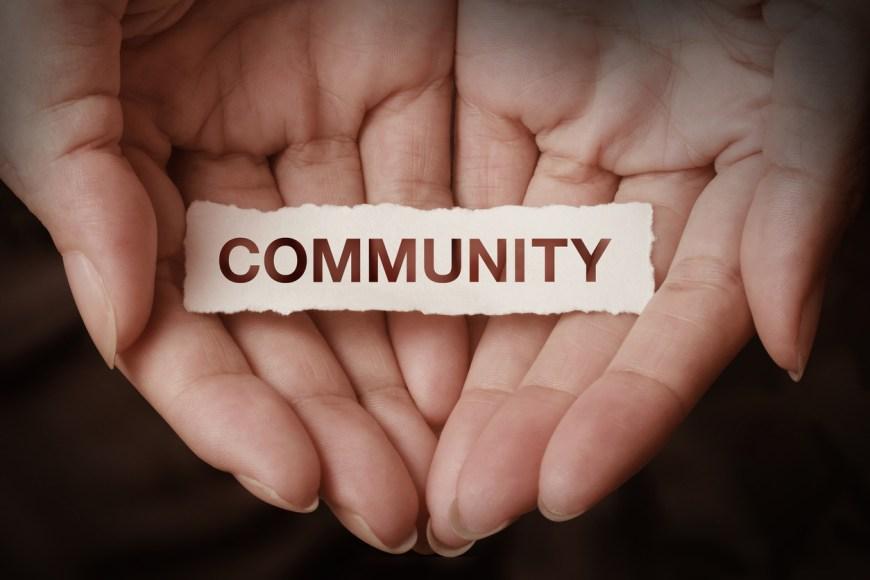 Community text on hand