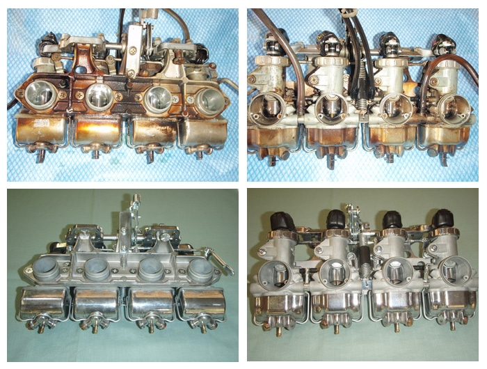 Nettoyage par ultrasons d'un carburateur de honda 750 K4